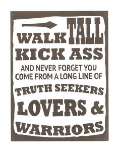 "Hunter S Thompson Inspired Typography Art Print Letterpress Poster , ""Walk Tall Kick A**..."" Inspirational Quote Wall Art"