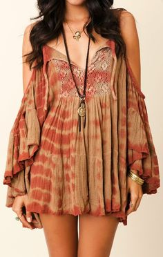 Lovely pleated boho summer fashion