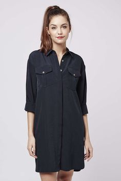 Photo 2 of Oversized Cupro Shirtdress