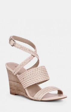 Woven stacked wedges - Rebecka - Buff
