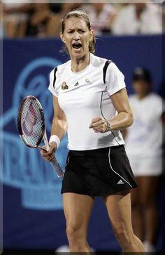Steffi Graf- loved her! Fc Barcelona, Steffi Graff, Kim Clijsters, Tennis Games, Tennis Legends, Tennis World, Athletic Events, Ana Ivanovic, Match Point