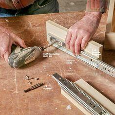 How to Build an Under-Cabinet Drawer (DIY) | Family Handyman Under Cabinet Drawers, Old Drawers, Diy Kitchen Cabinets, Kitchen Cabinet Organization, Kitchen Ideas, Rv Cabinets, Workshop Cabinets, Kitchen Updates, Kitchen Cupboard