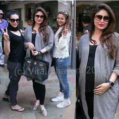 Kareena Kapoor Khan and Karisma Kapoor out shopping Indian Maternity Wear, Maternity Dresses, Bollywood Stars, Indian Celebrities, Bollywood Celebrities, Stylish Maternity, Maternity Fashion, Dresses For Pregnant Women, Clothes For Women