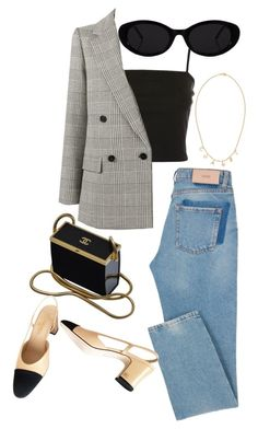 """Untitled #319"" by camilleines ❤ liked on Polyvore featuring Chanel, Topshop and STELLA McCARTNEY"