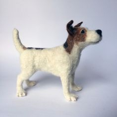 Custom Needle Felted Jack Russell, pet portrait, dog sculpture. by mikaelabartlettfelt on Etsy https://www.etsy.com/listing/280076060/custom-needle-felted-jack-russell-pet