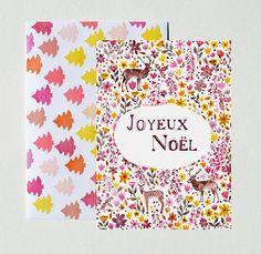 Merry Christmas card flowers stationery par SoniaCavallini sur Etsy