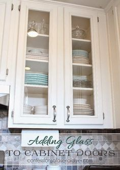 how to add glass to cabinet doors its easier and cheaper than you think - Changing Doors On Kitchen Cabinets