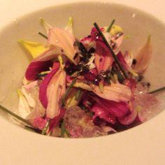 ceviche de flores en São Paulo, Brazil.  Fresco como el ceviche debe ser, pero con la combinación de flores se logra mas sabor hasta un poco dulce sin exagerar  http://www.onfan.com/es/especialidades/sao-paulo/d-o-m/ceviche-de-flores?utm_source=pinterest&utm_medium=web&utm_campaign=referal
