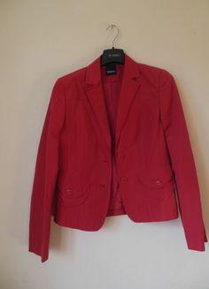 Kup mój przedmiot na #vintedpl http://www.vinted.pl/damska-odziez/marynarki-zakiety-blezery/11288648-taifun-czerwony-zakiet-czerwona-marynarka-36-38