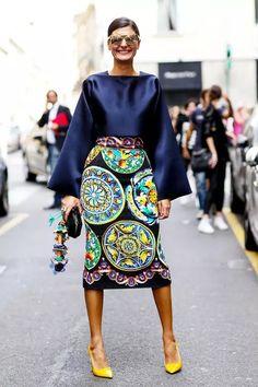 Milan Fashion Week Street Style: Statement Skirt