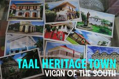 Is Vigan too far for you? Why not visit the Vigan of the South, travel back in time and see rows of ancestral houses ?
