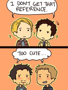 Supernatural/Avengers. Maybe that's why I love Cas so much - he reminds me a little of Cap, and I love Cap.