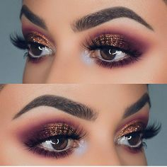 Huda Beauty Rose Gold Texture eye makeup
