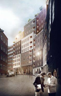 'Paradiset 19-21′ Housing Proposal / Kjellander + Sjöberg Architects