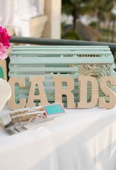 Lobster trap to collect cards  13 Creative Ways to Collect Cards at Your Wedding via Brit + Co.