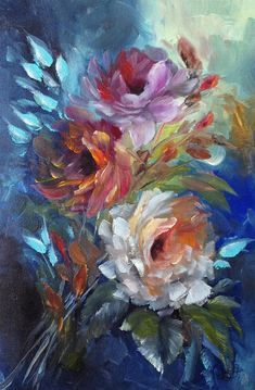 Fine art Roses Original Oil Painting Painting on Canvas