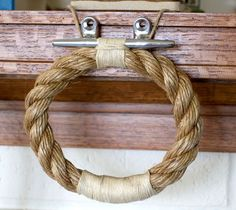 Try this as a curtain tie back in Aiden's room -- contemporary-towel-bars-and-hooks