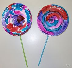 Tippytoe Crafts: Paper Plate Lollipops                                                                                                                                                      More
