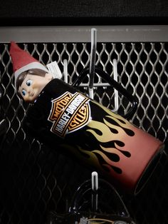 """The """"Elf on A Shelf"""" is making his way around our MotorClothes Dept. and looking for some lucky customers to share his Holiday Spirit with! Starting today and everyday until December 24,2015 stop in the shop and if YOU find the """"Elf on A Shelf,"""" you automatically win a $25 Gift Card compliments of Harley-Davidson of Glendale, CA! Best of luck to all who stop by!"""