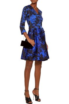 Shop on-sale Diane von Furstenberg Valerie printed wool and silk-blend wrap dress. Browse other discount designer Dresses & more on The Most Fashionable Fashion Outlet, THE OUTNET.COM