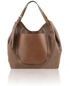 CINZIA TL141515 Soft leather shopping bag
