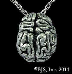 Brain Necklace - Zombie Jewelry