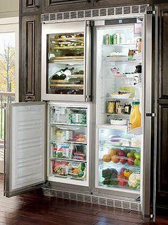 9 Luxury Kitchen Appliances - Liebherr Refrigerator on HomePortfolio Basic Kitchen, New Kitchen, Kitchen Ideas, Kitchen Stuff, Kitchen Designs, Built In Wine Cooler, Bathroom Gadgets, Side By Side Refrigerator, Kitchen Refrigerator