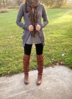 Yes--> Stitch Fix - I need some longer casual tops and cardigans to wear over leggings! Love this look! I own the boots and leggings! https://www.stitchfix.com/referral/5316866