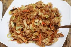 Kottu is another very popular and widely sold Sri Lankan recipe. Kottu is shredded roti (bread) with vegetables. The local street food vendors usually use the leftover bread and whip up this delicious and spicy treat with it.