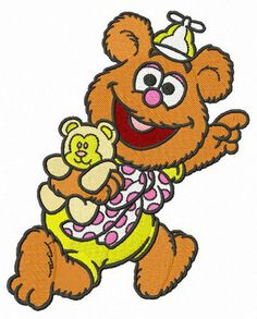 Muppet Babies, Baby Cartoon, Cartoon Pics, Cartoon Ideas, Cartoon Characters, Baby Embroidery, Embroidery Designs, Piggy Muppets, Coloring Pictures For Kids