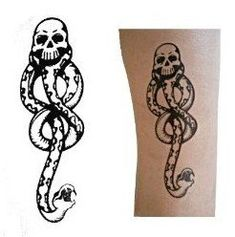 Harry Potter Todesser Dunkle Mal Tattoos (5 Stück) für Cosplay Zubehör und Halloween: Amazon.de: Spielzeug