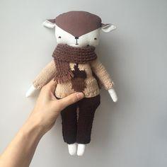 Lamb linen doll autumn