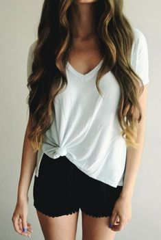#summer #fashion / casual black and white