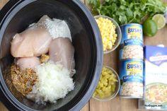 freezer crockpot white bean chili recipe | 25  Freezer to Crockpot Meals