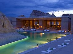 Luxury resort in Utah built into the surrounding boulders and landscape. An unreal spa. Luxury Lake Powell Resort Photos - Amangiri Resort and Spa Lake Powell, Amangiri Hotel, Amangiri Resort Utah, Vacation Destinations, Dream Vacations, Vacation Spots, Vacation Ideas, Vacation Travel, Vacation Packages