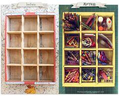DIY Craft: Coke Crate to Art Supply Storage