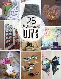 25 Most Pinned DIY Ideas