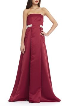 Vienna Gown from RAOUL in Soho Red.  You will feel like the belle of the ball in this gown - the Vienna Gown is effortless and elegant.