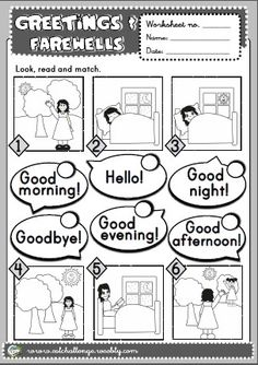 GREETINGS WORKSHEET http://eslchallenge.weebly.com/english-yes-1.html
