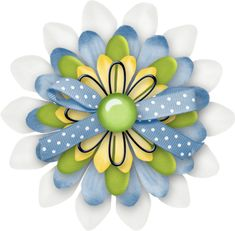 """Photo from album """"Denim And Daisies"""" on Yandex. Scrapbook Borders, Scrapbook Embellishments, Scrapbook Cards, Scrapbooking, Paper Candy, Arts And Crafts, Paper Crafts, Ribbon Bows, Flowers In Hair"""