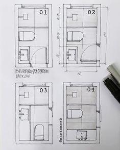 Small Bathroom Floor Plans, Small Attic Bathroom, Small Bathroom Layout, Bathroom Design Layout, Tiny Bathrooms, Bathroom Interior Design, Interior Design Your Home, Home Room Design, Small House Design