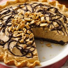 Add this Chocolate-Peanut Butter Truffle Pie to your #Memorial Day #feast and enjoy!  #decadent #chocolatelovers #peanutbutter #pie
