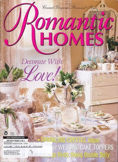 Romantic Homes Magazine Decorate with Love Vintage Wedding Toppers Crystal