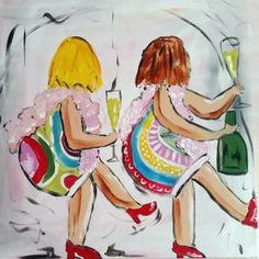 Weekend. Zelf komen schilderen? Schilderen met een wijntje. Hét creatieve avondje uit. paintbar.nl.
