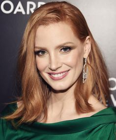 """Piaget on Instagram: """"As we look back on one year with our beautiful #PiagetAmbassador Jessica Chastain @chastainiac , she was once again stunning in #PiagetHighJewellery earrings on the #redcarpet of the #NationalBoardofReview Awards Gala. #JessicaChastain"""""""