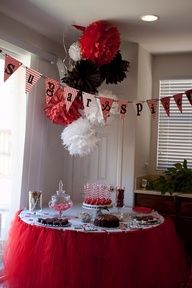 Black, White, & Red Baby Shower.  I love baby showers that aren't the usual pastels!!