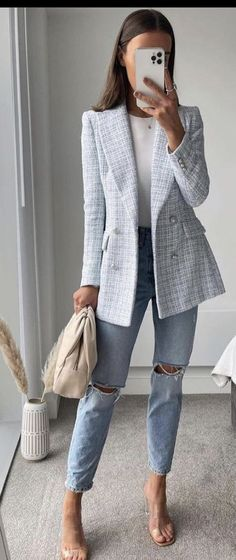 Casual Work Outfits, Blazer Outfits, Business Casual Outfits, Mode Outfits, Work Attire, Classy Outfits, Stylish Outfits, Fashion Outfits, Womens Fashion