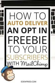 Are you on the free version of mailchimp? Learn how to auto deliver an opt in fr - Email Marketing Inspiration - - Are you on the free version of mailchimp? Learn how to auto deliver an opt in freebie to your audience so that you can grow your email list! Best Email Marketing, Marketing Website, Email Marketing Design, Email Marketing Strategy, Email Design, Business Marketing, Content Marketing, Internet Marketing, Affiliate Marketing