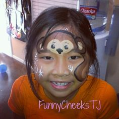 Monkey face painting at a Birthday Party by FunnyCheeksTJ