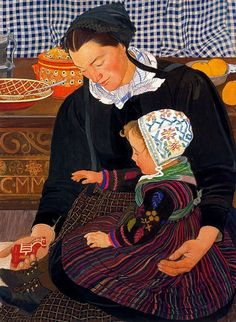 Painting by Ernest Bieler Swiss Painter The Third Anniversary of Giovanni Pascoli